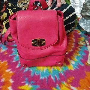 Merona hot pink mini backpack